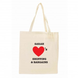 Hearts Cotton Tote Bag