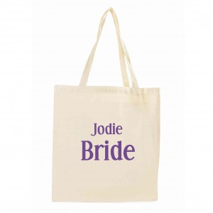 Bride Cotton Tote Bag