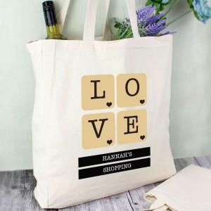 LOVE Tiles Cotton Tote Bag