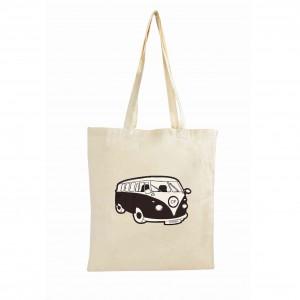 Black Campervan Cotton Bag