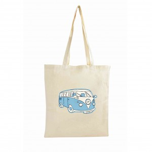 Blue Campervan Cotton Bag