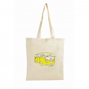 Yellow Campervan Cotton Bag
