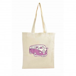 Pink Campervan Cotton Bag