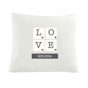 LOVE Tiles Cushion Cover