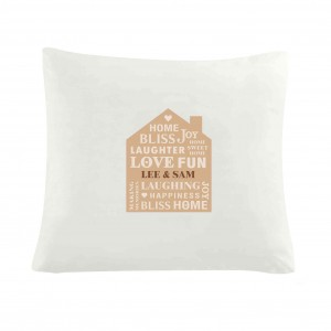 Family Typography Cushion Cover