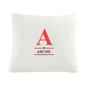 Boys Initial Cushion Cover