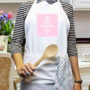 Keep Calm White Apron