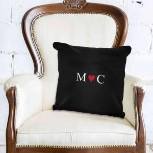 Monogram Black Cushion Cover
