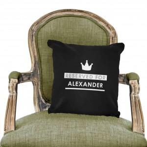 Reserved For Black Cushion Cover