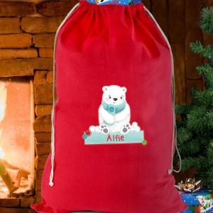 Polar Bear Cotton Sack