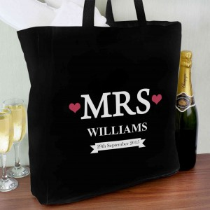 Mrs Black Cotton Bag