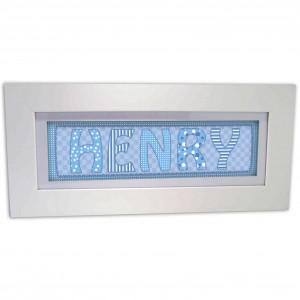 Blue Stitch Name Frame