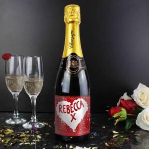Rose Petal Champagne Bottle