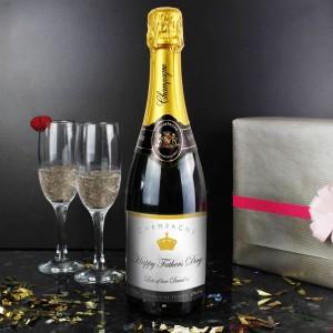 Elegant Label Champagne Bottle