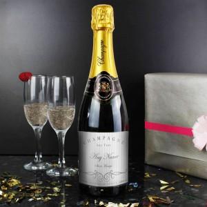 Elegant Swirl Champagne Bottle