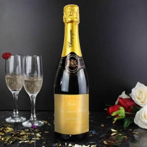 Elegant Yellow Champagne Bottle