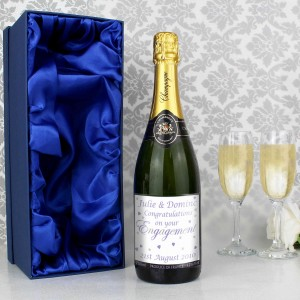Engagement Hearts Champagne with Gift Box