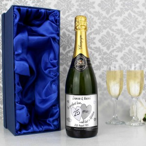 A Perfect Love Silver Champagne with Gift Box
