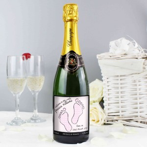 Baby Footprint Pink Champagne