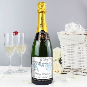 Blue Baby Wash Line  Champagne
