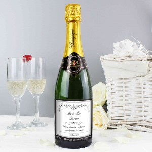 Ornate Swirl Champagne Label