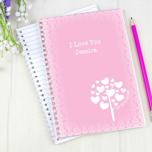 Love Grows Pink A5 Notebook