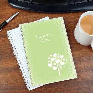 Love Grows Green A5 Notebook