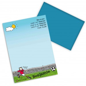 Bang on the Door Football Crazy Stationery Set