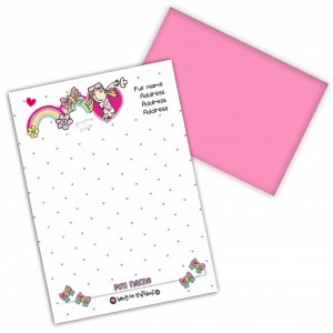 Bang on the Door Groovy Chick Stationery Set
