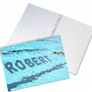 Swimmer A5 Notebook