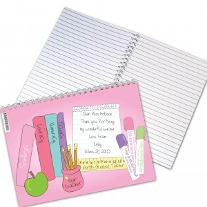 Teacher Books Female Notebook