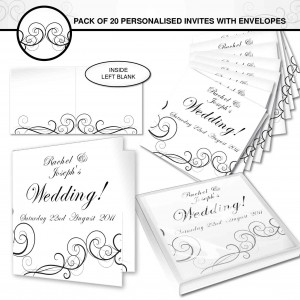 Wedding Swirl Invitations