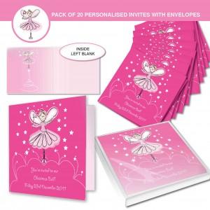 Christmas Fairy Invitations