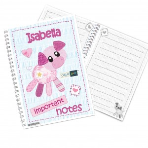 Cotton Zoo Organdie the Piglet Notebook