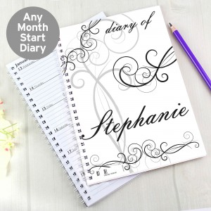 Black Swirl A5 Diary