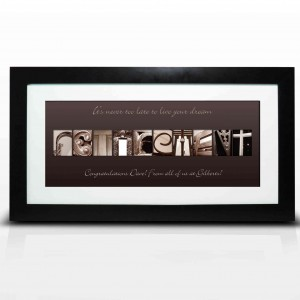 Affection Art Retirement Large Frame