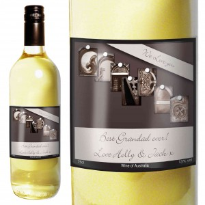 Affection Art Grandad White Wine with Gift Box