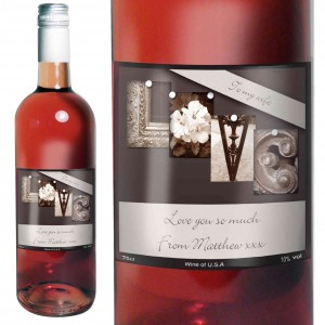 Affection Art Love Rose Wine with Gift Box