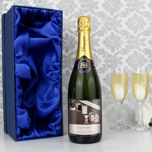 Affection Art Mr & Mrs Champagne with Gift Box