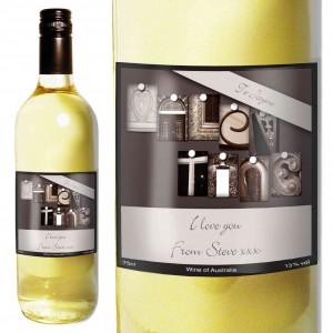 Affection Art Valentine White Wine with Gift Box