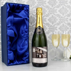 Affection Art Valentine Champagne with Gift Box