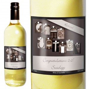 Affection Art Graduation White Wine with Gift Box