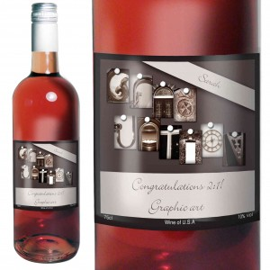 Affection Art Graduation Rose Wine with Gift Box