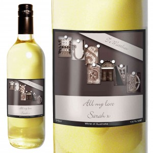 Affection Art Husband White Wine with Gift Box