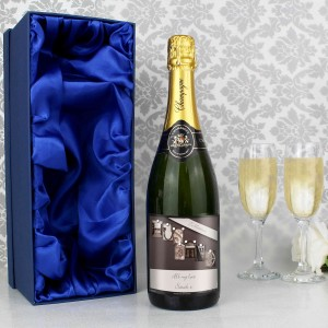 Affection Art Husband Champagne with Gift Box