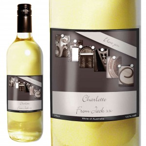Affection Art Fiance White Wine with Gift Box