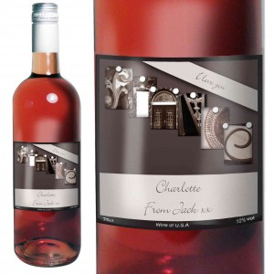 Affection Art Fiance Rose Wine with Gift Box