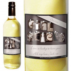 Affection Art Girl White Wine with Gift Box