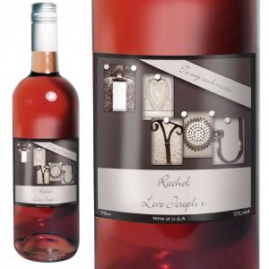 Affection Art I Heart U Rose Wine with Gift Box