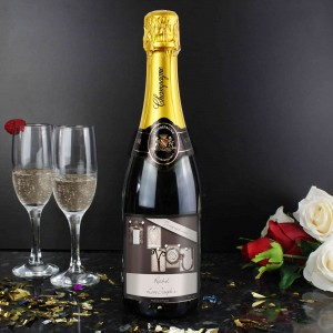 Affection Art I Heart U Champagne with Gift Box
